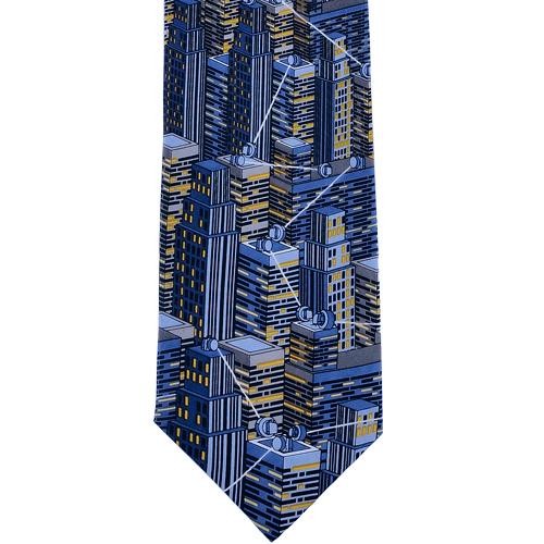 Cravatta in 100% seta personalizzata con stampa digitale