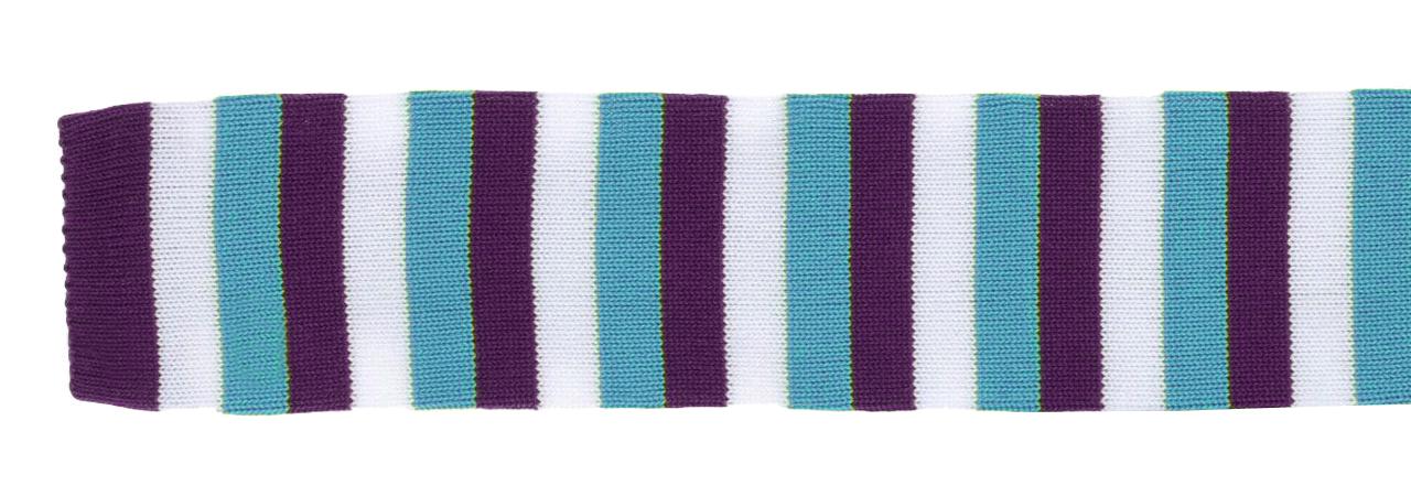 Cravatta personalizzata in seta lavorata a maglia