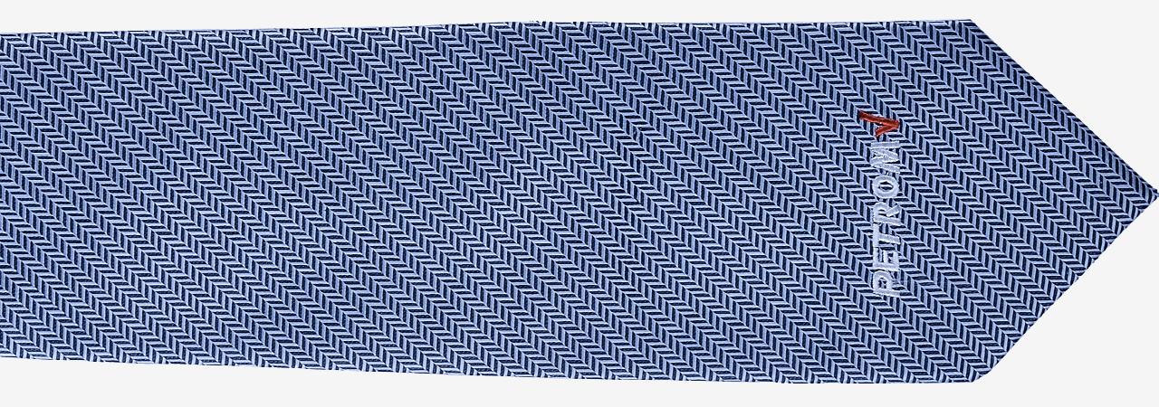 cravatta personalizzata con ricamo sul fronte a 2 colori